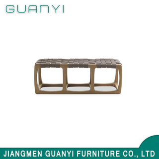 2019 Modern Wooden Furniture PU Leather Benches