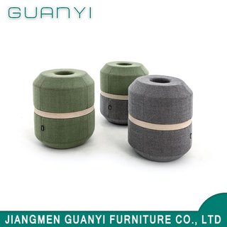 2018 New Modern Unique Wooden Fabric Foam Living Furniture Ottoman