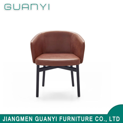 Modern Classical PU Leather Seat Wooden Hotel Furniture Chair
