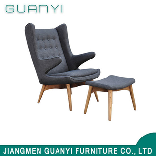 2019 Leisure Wooden Furniture High Back Hotel Armchair