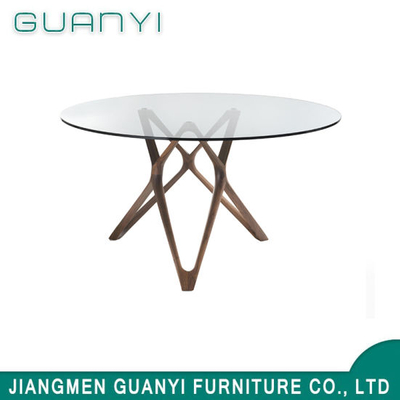 2019 Modern Wooden Furniture Glass Cafe Table
