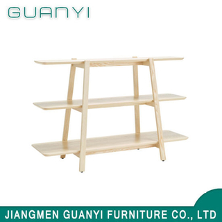 Fashion Design Three Layer Soild Wood Furniture Bookshelf